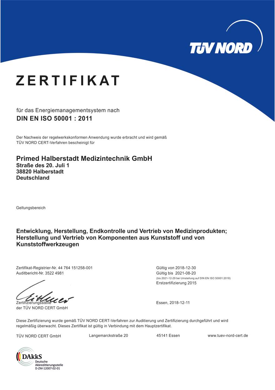 MEDCERT-zertifizierte Sicherheit: Primed®